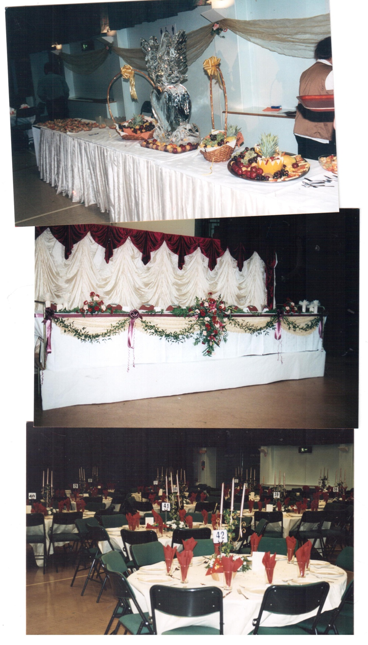 Our first event took place at The Spirit Centre back in 1998! A lot has changed over the years from having a huge fruit display to seating plans now being the norm. One thing that has always remained consistent is the quality of food and service from Preeti Catering.